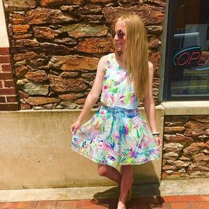 Lilly Pulitzer Tropical Print Two Piece Set